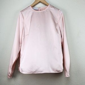 Carlisle New York Size 4 Blush Pink Silk Blouse